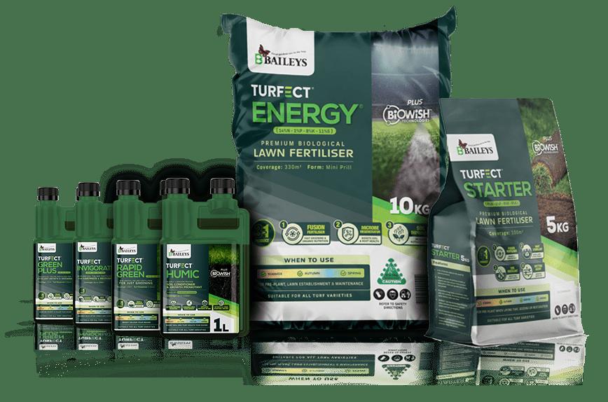 Turfect range by Baileys Fertilsier, best for lawn product
